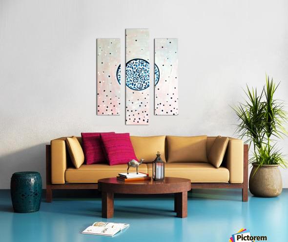 Art deco flower bloom Canvas print