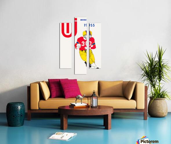 1955 university of tulsa football poster Canvas print