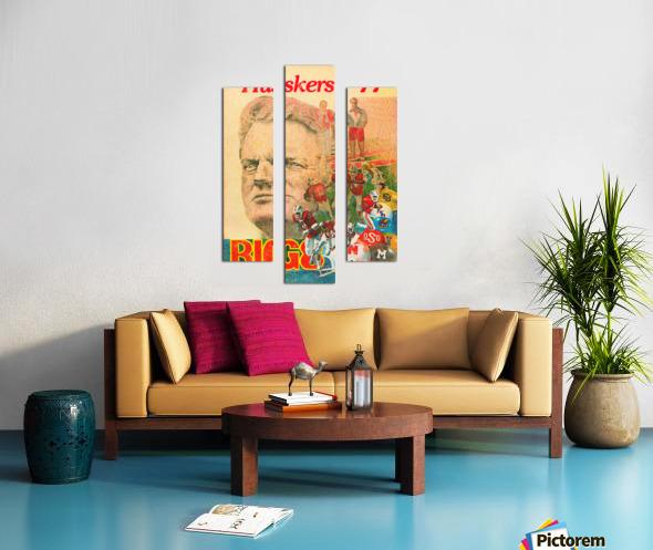 1977 nebraska cornhuskers tom osborne big 8 college football poster Canvas print