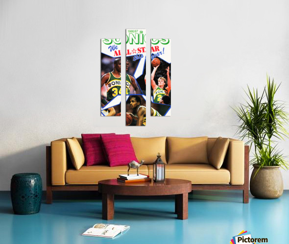 1987 seattle supersonics nba all star game poster Canvas print