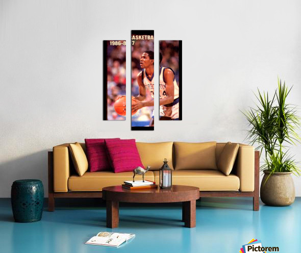 1986 georgetown hoyas basketball reggie williams poster Canvas print
