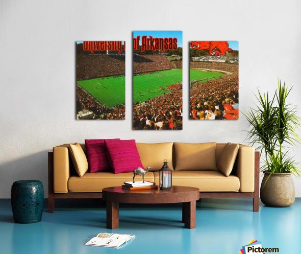 retro arkansas razorbacks football fayetteville razorback stadium photo Canvas print
