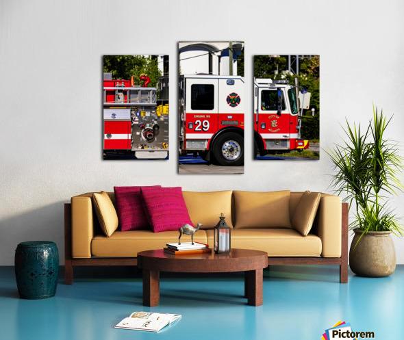 City of Atlanta Fire Engine No 29 6665 Canvas print