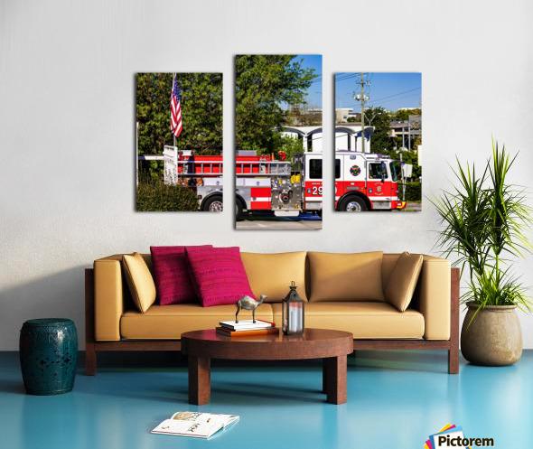 City of Atlanta Fire Engine No 29 6648 Canvas print
