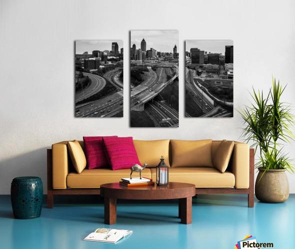 Interstate 75 85 Aerial View   Atlanta GA 0225 Canvas print