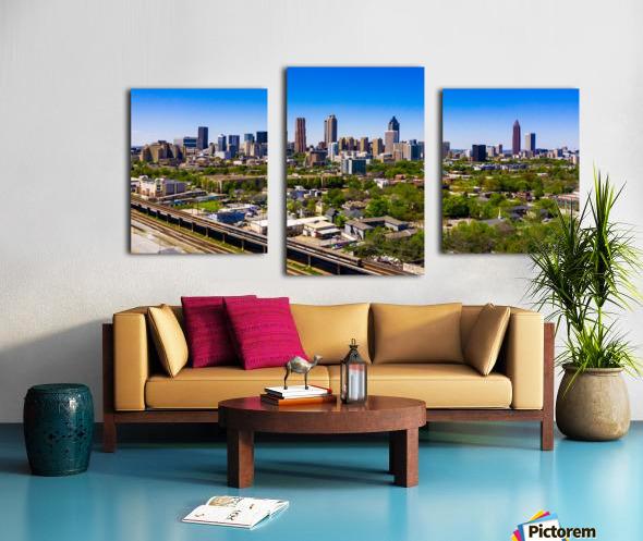 Atlanta GA  Panoramic Skyline 0618 Canvas print