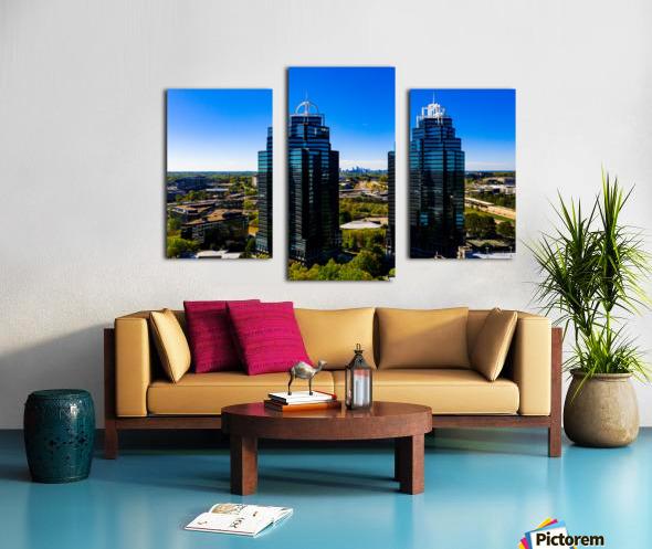 King and Queen Buildings   Atlanta GA 0556 Canvas print