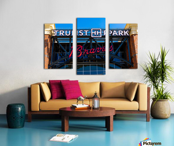Truist Park   The Battery Atlanta GA 6748 Canvas print