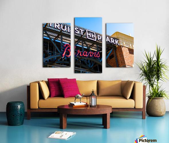 Truist Park   The Battery Atlanta GA 6718 Canvas print