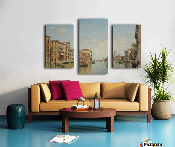 View of the Grand Canal of Venice Canvas print