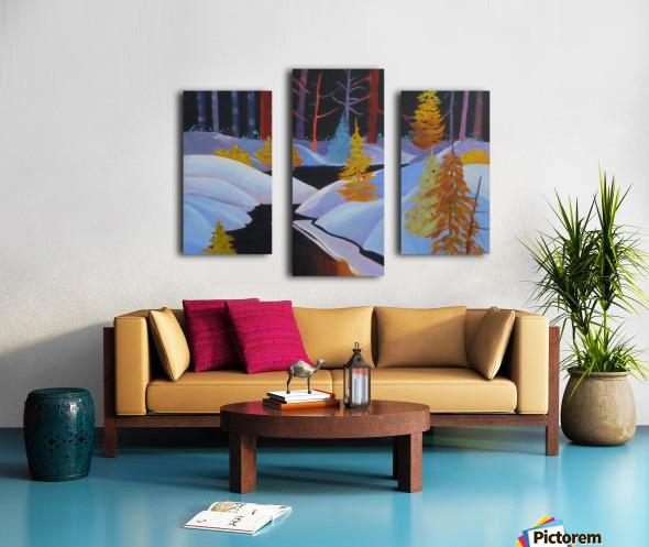 winterwonderland.acrylic Canvas print