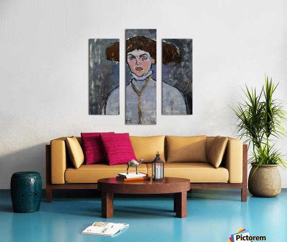 Modigliani - Head of a young woman Canvas print