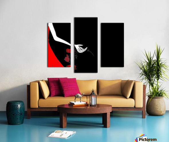 Dropping roses Canvas print