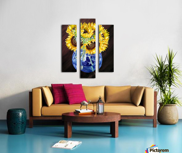 A Bunch Of Sunflowers Canvas print