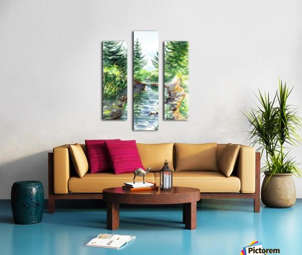 Forest Creek Canvas print