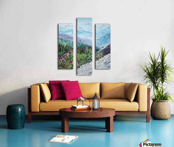 Mountains Of Sequoia  Canvas print