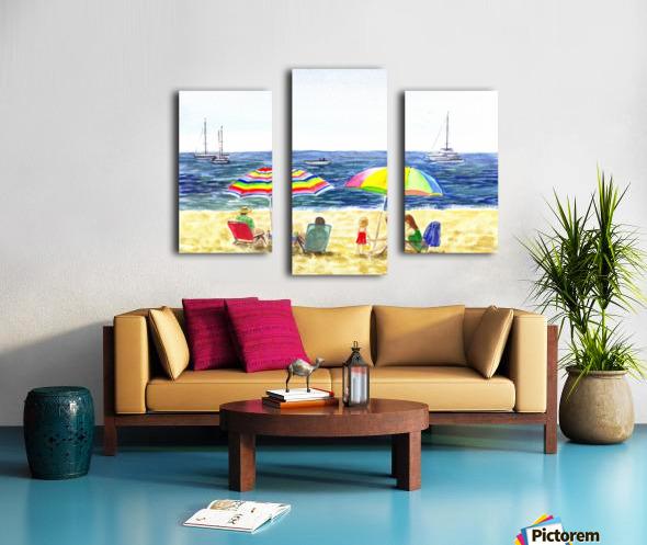 Two Umbrellas On The Beach Canvas print