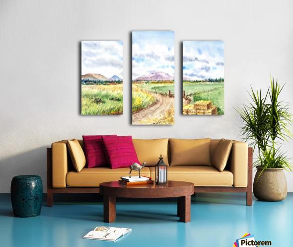 Farm Road The Mountains landsape Canvas print