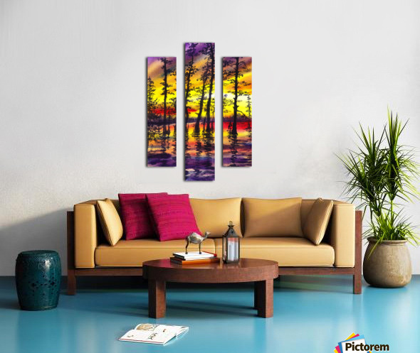 Bright Sunset Through The Trees Canvas print