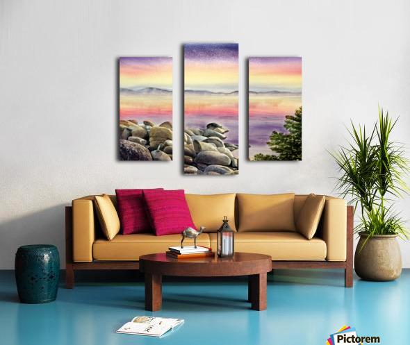 Purple Sunset At The Lake Canvas print