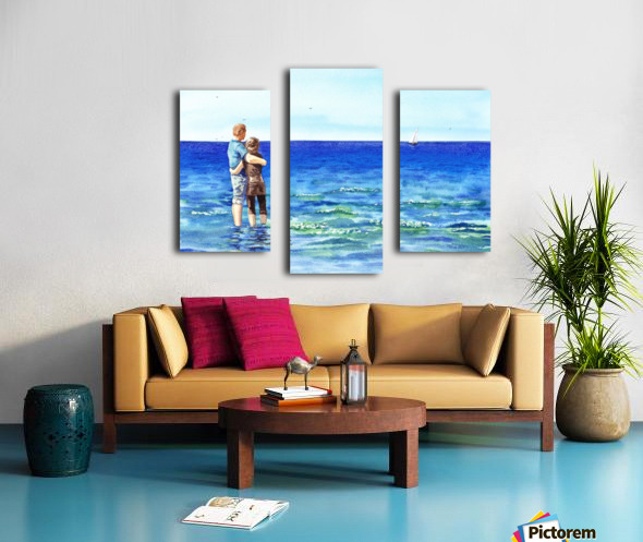 Couple And The Sea Canvas print