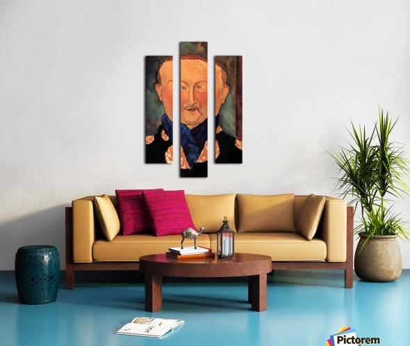 Modigliani - Portrait of Leon Bakst Canvas print