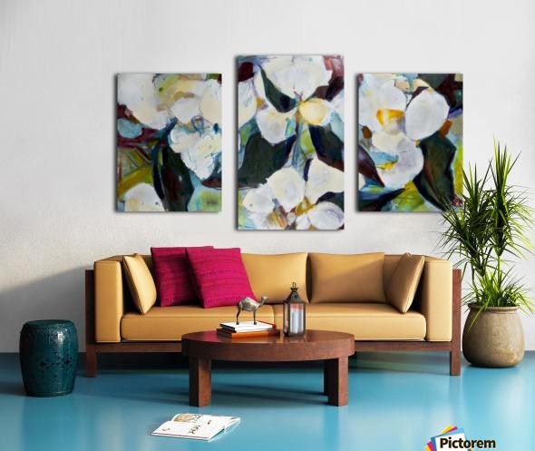 Louisiana Cubist Magnolia Canvas print