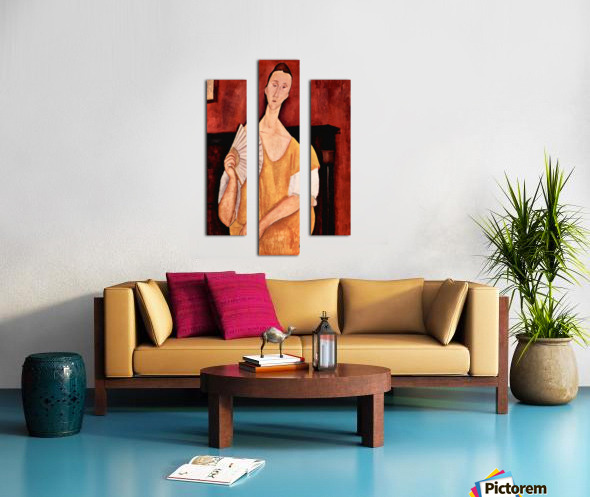 Modigliani - Portrait of Lunia Czechowska with fan Canvas print