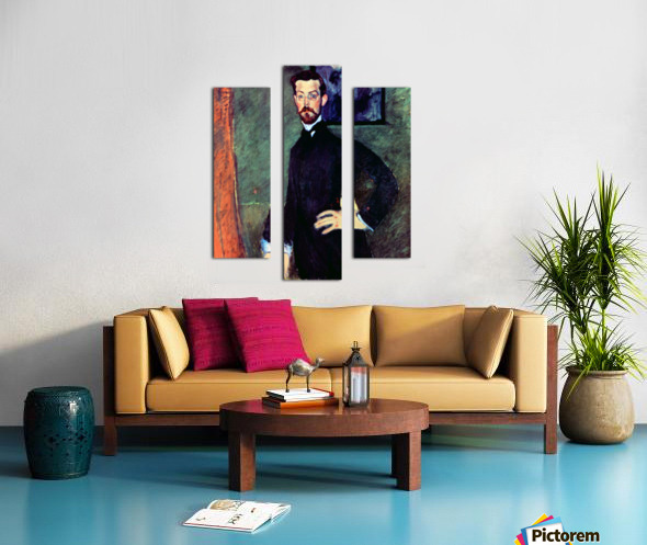 Modigliani - Portrait of Paul Alexanders before a green background Canvas print