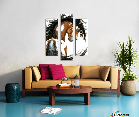 Majestic Pinto Horse Canvas print
