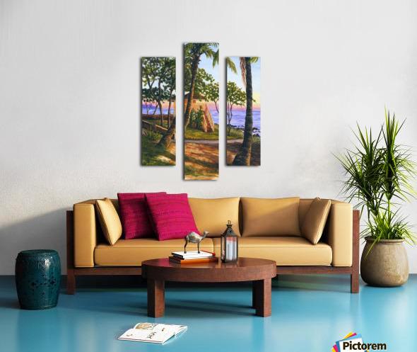 Canoe Beach Canvas print