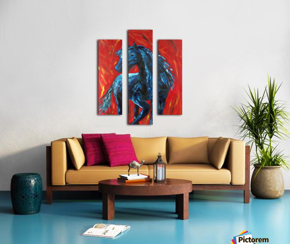 red horse Canvas print