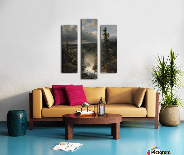 Landscape with a creek Canvas print
