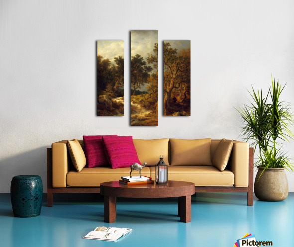 Landscape with a Stream Canvas print