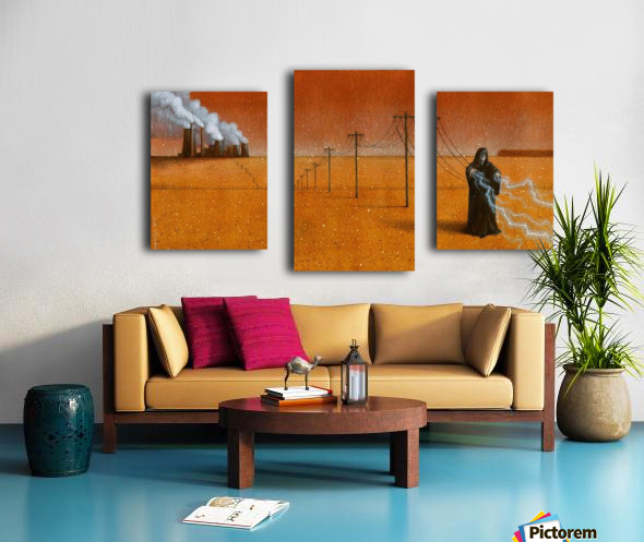 dark industry Canvas print