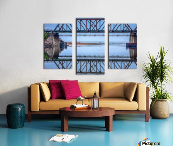 Vision double Canvas print