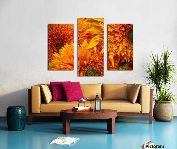 Fluffy Yellow Sunflowers Canvas print
