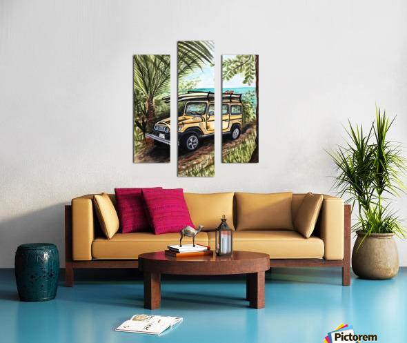 Collection COSTA RICA-Jeep Impression sur toile