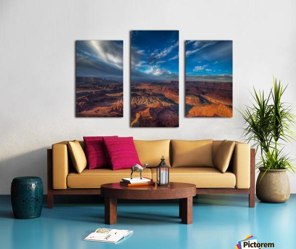 SUNRISE OVER DEAD HORSE CANYON-UTAH-6 Canvas print