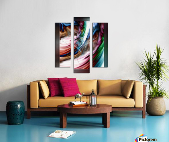 Whispers In A Dreams Of Beauty Fractal Abstract Portrait Art Canvas print