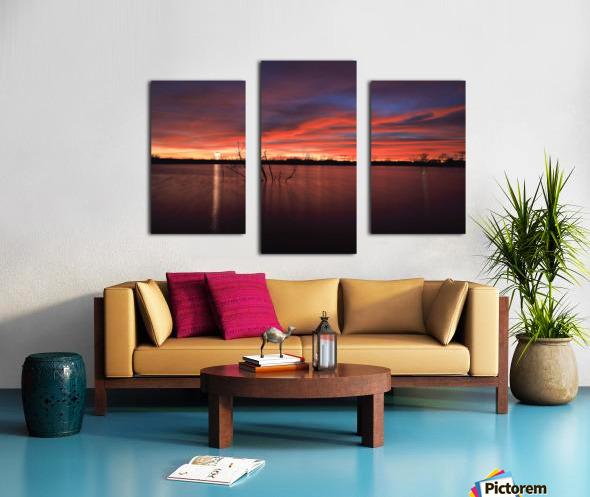 Wellington City Lake Sunset Canvas print