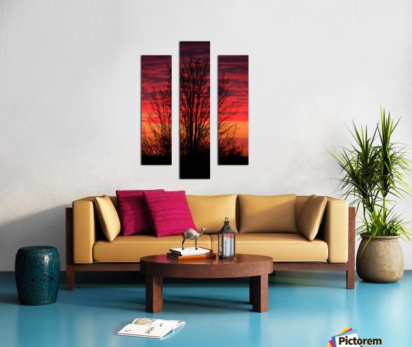 Liberty Missouri Sunset  Canvas print