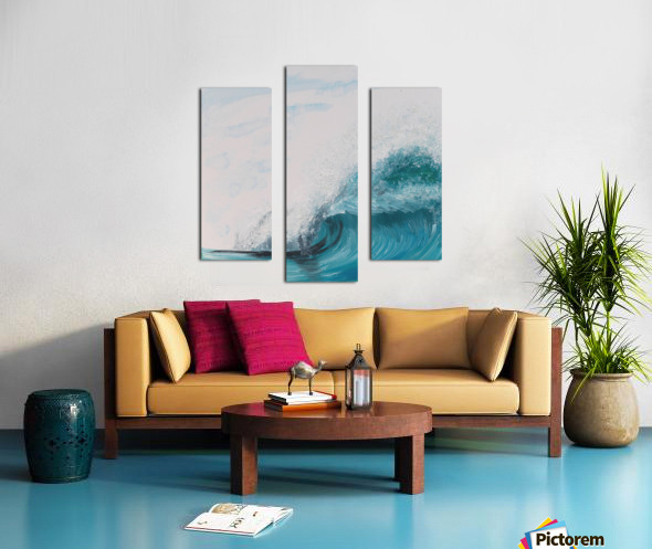 Collection WAVES-Barrel Impression sur toile
