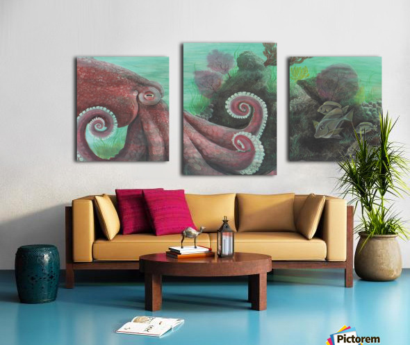 Collection WAVES-Octopus Impression sur toile