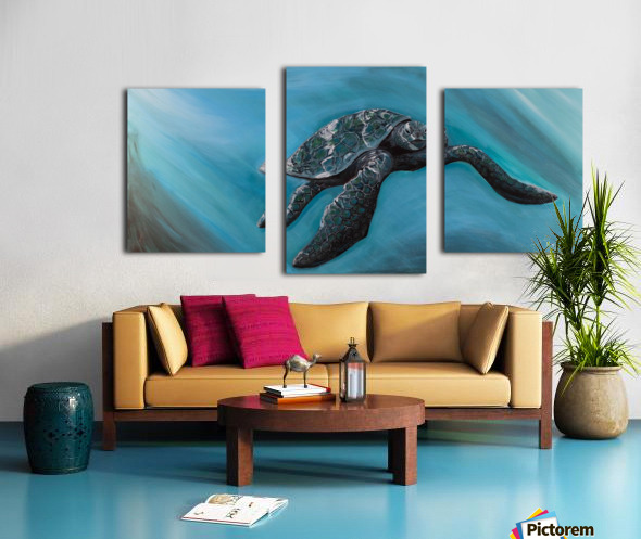 Collection WAVES-Turtle Impression sur toile