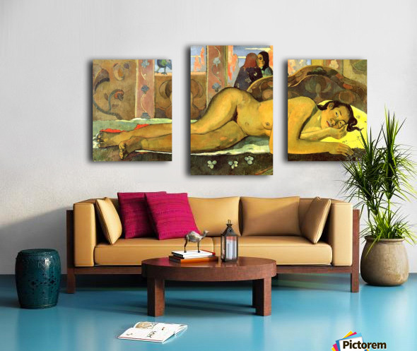 Nevermore by Gauguin Canvas print