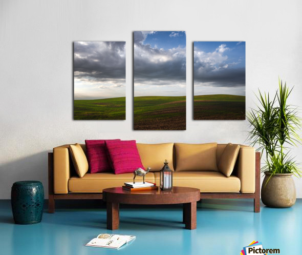 Fields and clouds Canvas print