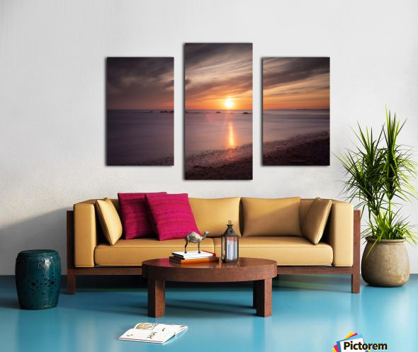 Sker Beach sunset Canvas print