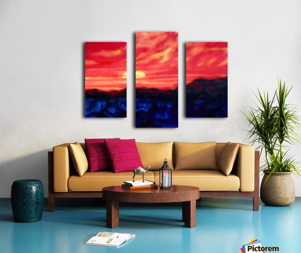 Fire Sunset Canvas print