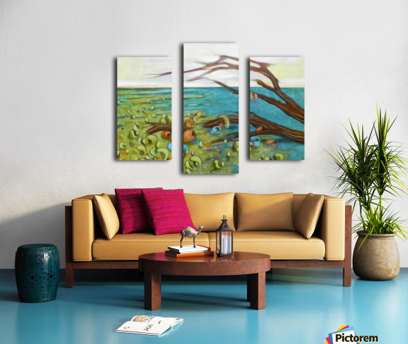 landscape with garbage Canvas print